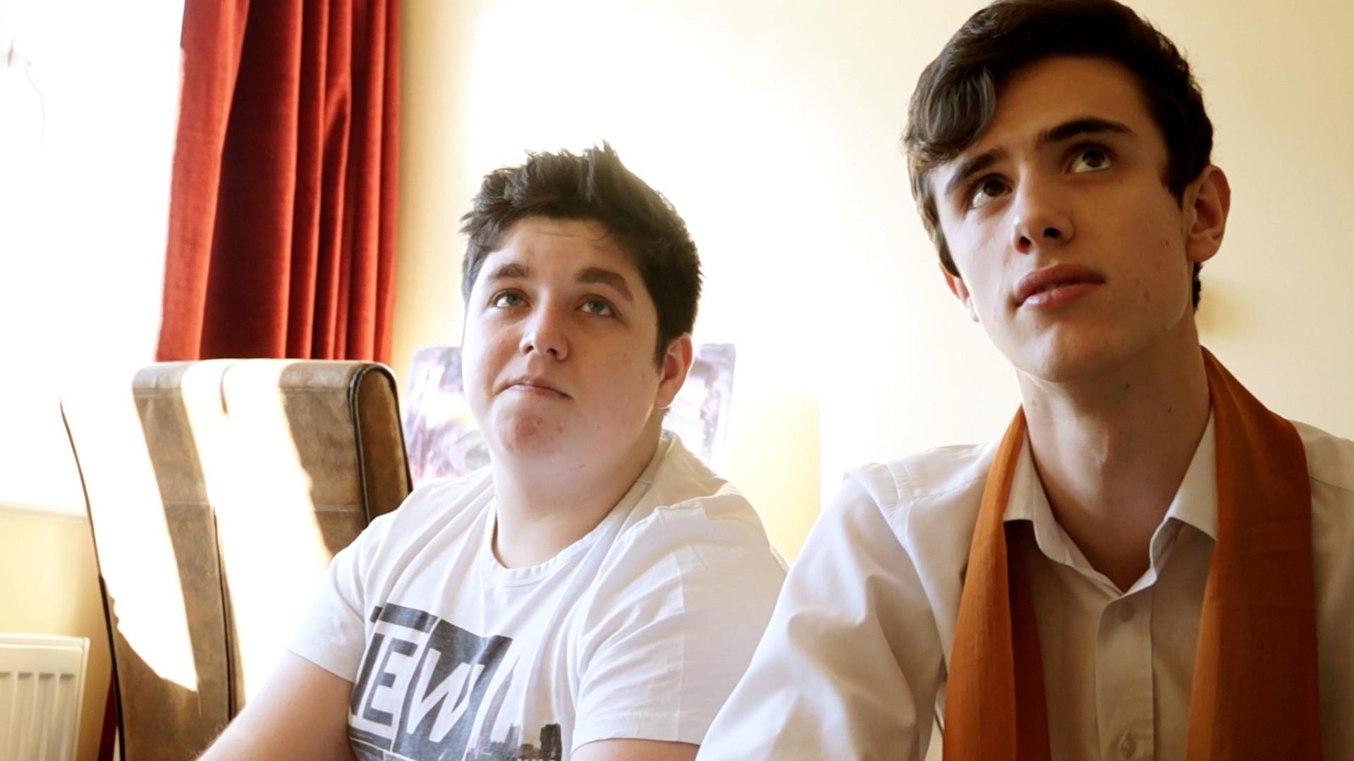 Jordan Cottle and Jack Stringer as Hugh Darvill and Barney Fields