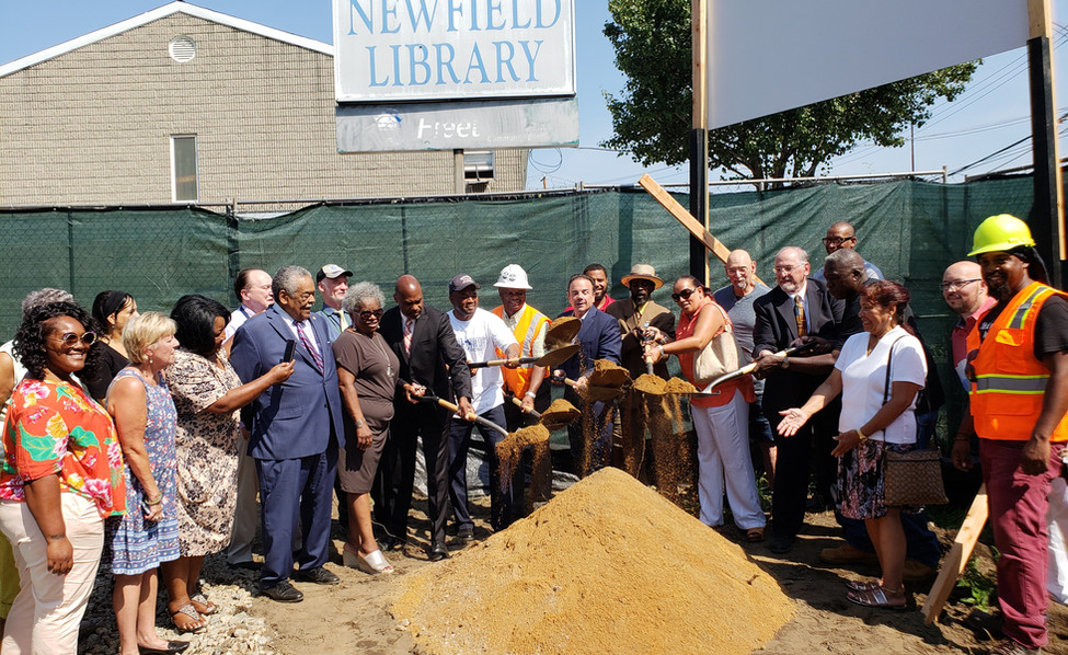 Newfield Library - Ground breaking