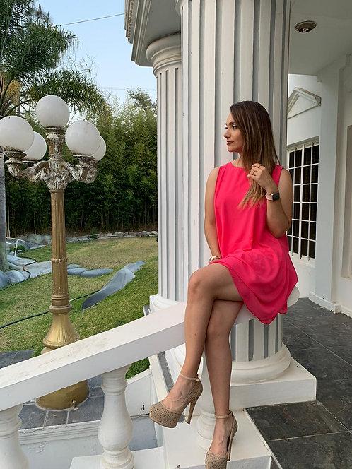 Vestido-Bluson Rosa