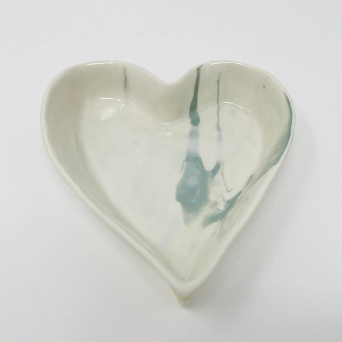 marbled heart dish
