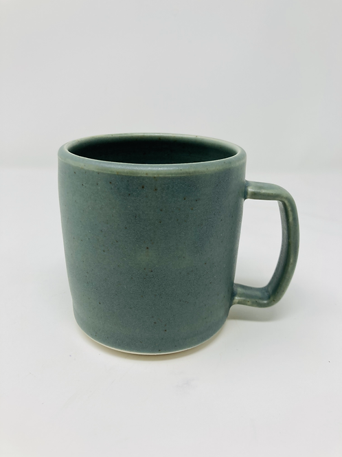 dark speckled green matte 12 oz mug