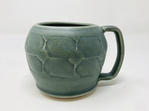 8oz speckled green cappuccino curvy mug