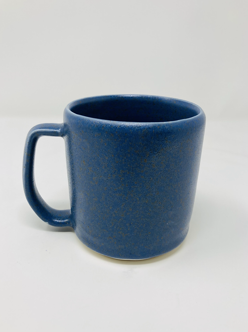 dark blue speckled matte mug