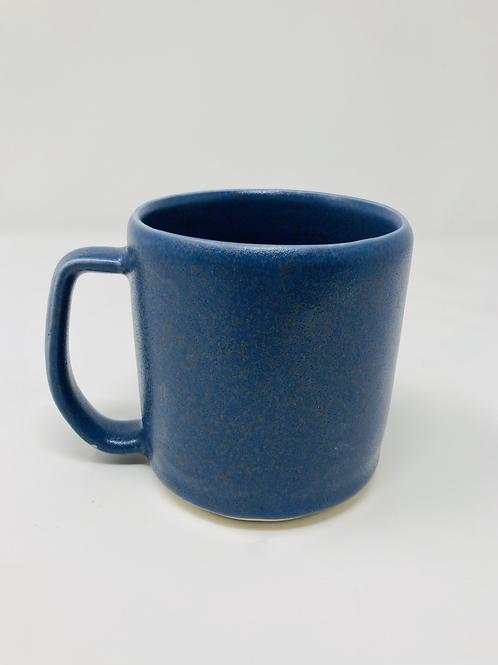 dark blue speckled matte mug