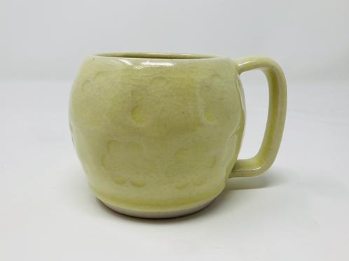 8 oz sunshine yellow curvy cappuccino mug set