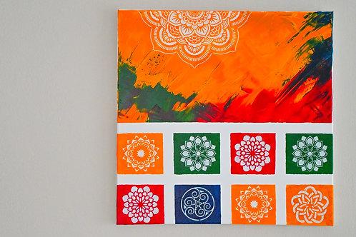 Akryl na plátně obraz 50x50 čtverec