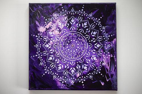 Akryl na plátně 30x30 cm violet