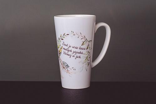 """Hrnek latte """"Život je série..."""""""