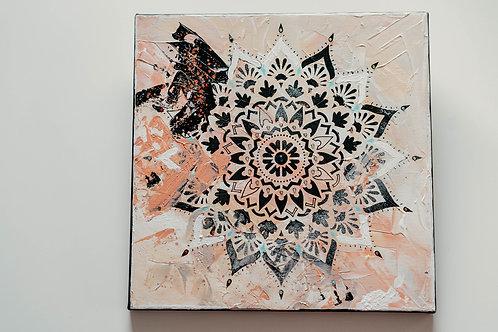 Akryl na plátně obraz 30x30 béžová