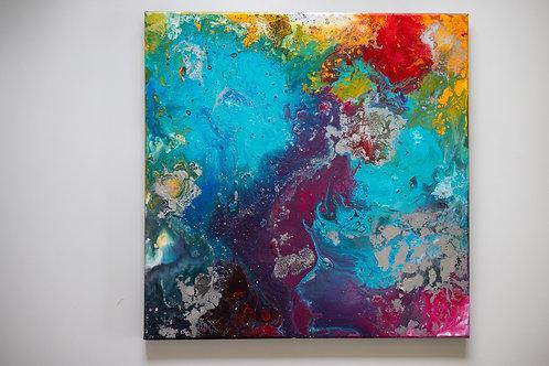 Akryl na plátně 40x40 happiness