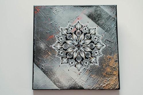 Akryl na plátně obraz 30x30 černá