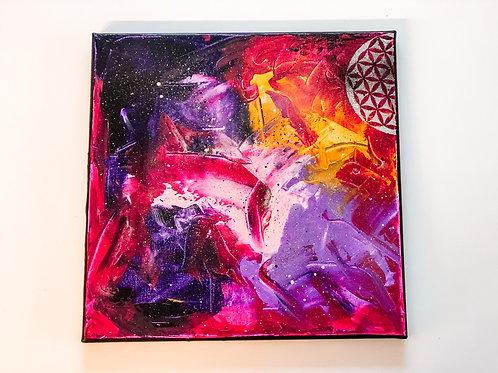 Akryl na plátně obraz 30x30 universe