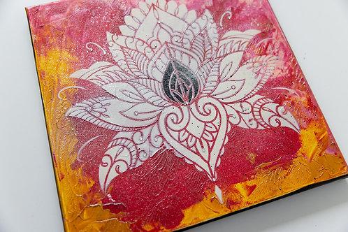 Akryl na plátně obraz 30x30 lotos