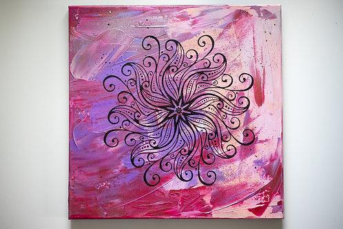 Akryl na plátně 40x40 láska