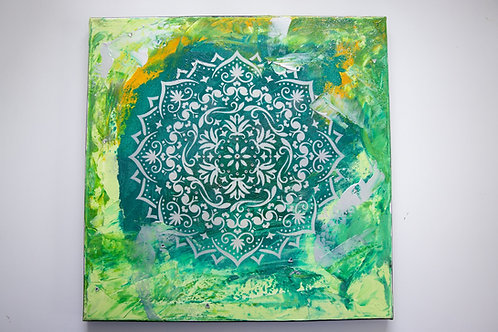 Akryl na plátně obraz 40x40 les