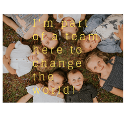 Part of a team here to change the world.