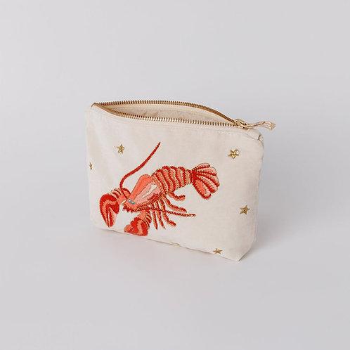 Lobster Pearl Velvet Makeup Bag