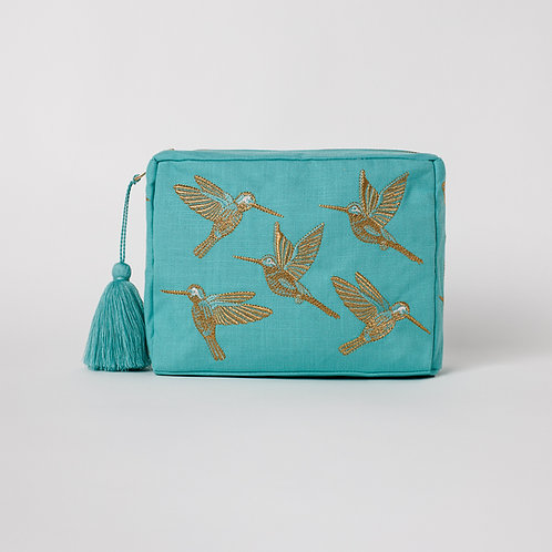 Turquoise Hummingbird Bag