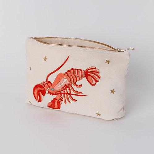 Lobster Pearl Velvet Pouch