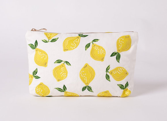 Lemon White Everyday Pouch