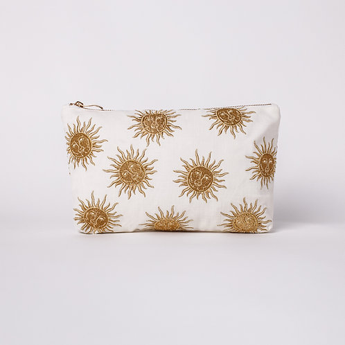 White Sun Goddess Everyday Pouch