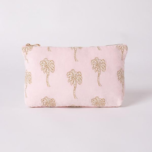 Palmier Rosewater Velvet Everyday Pouch