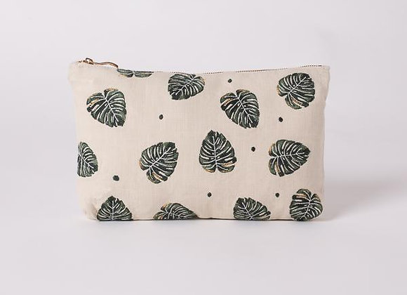 Jungle Leaf Natural Everyday Pouch