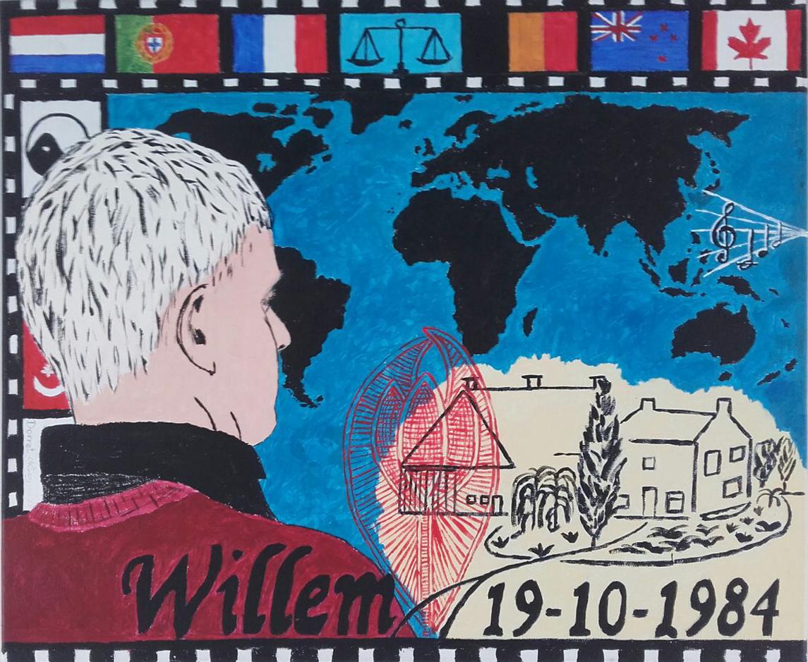 21 Willem 25 acryl op doek
