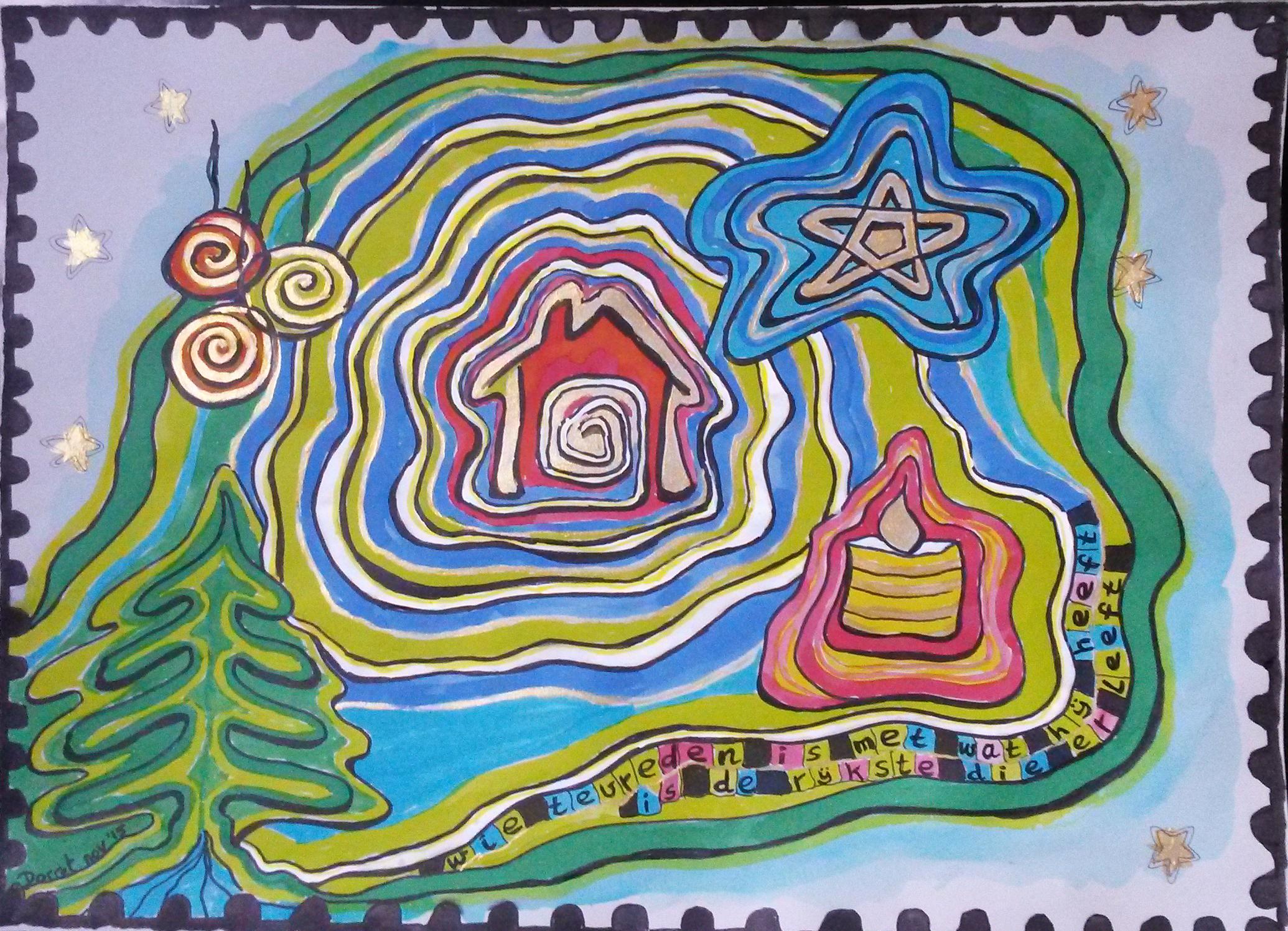 09 Kerstpostzegel