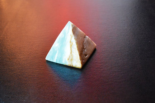 Blue Aragonite Pyramid