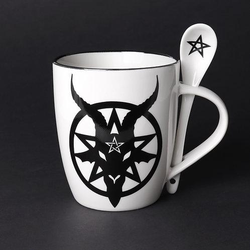 Baphomet Mug & Spoon Set