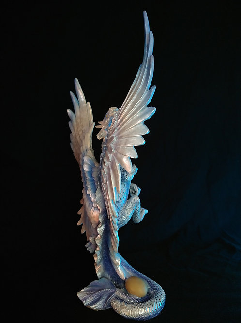 Anne Stokes Age of Dragons Adult Silver Dragon