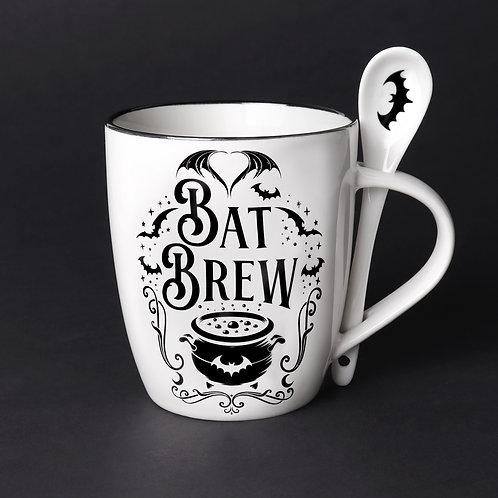 Bat Brew Mug & Spoon Set