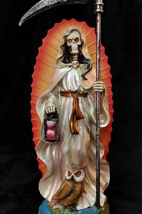 Santa Muerte Standing  (White Robe)