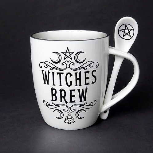 Crescent Witches Brew Cup and Spoon