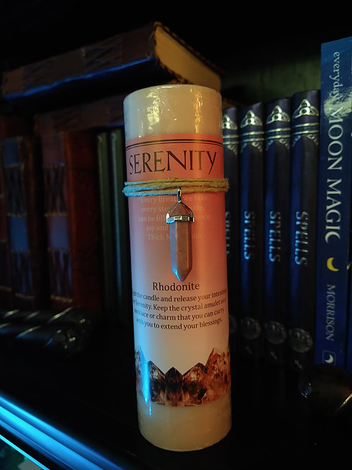 Crystal Energy Pendant Candle SERENITY