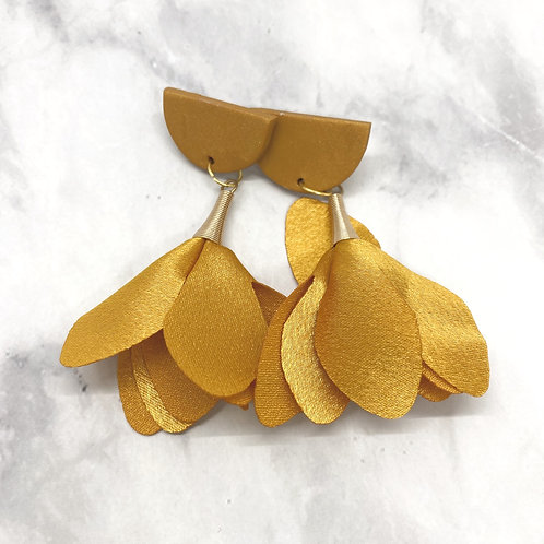 Gold Trumpet Earrings