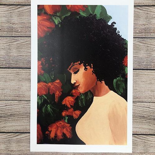 Whimsical Black Girl Print