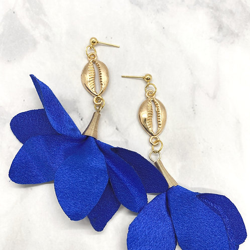 True Blue Trumpet Earrings