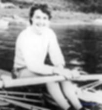 1965-Championnats d'Europe-Renée Camu médaille d'argent en skiff féminin.