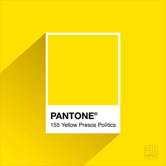 Pantone Yellow Presos Polítics