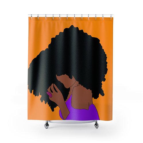 Janelle Orange - Shower Curtain