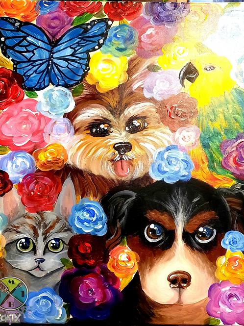 Pets in Bloom