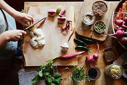 légumes hacher