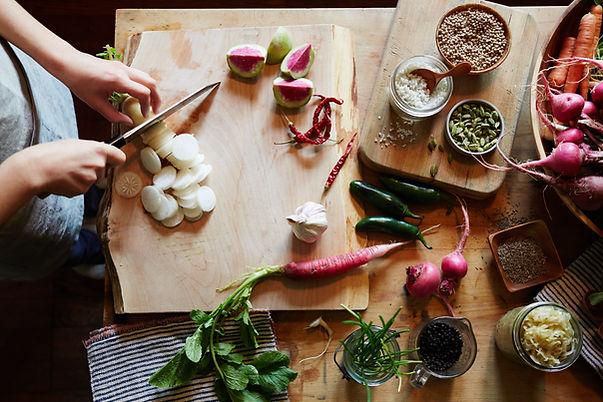 Gemüse hackt