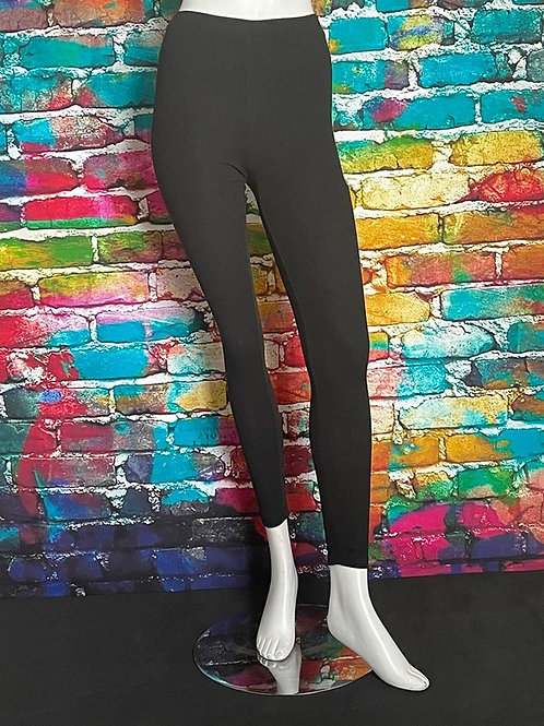 Jersey Ribbed Leggings Black