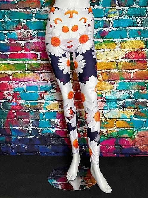 Creamy Soft Daisy Bunch Leggings