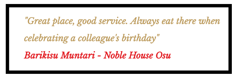 Noble House Osu Review