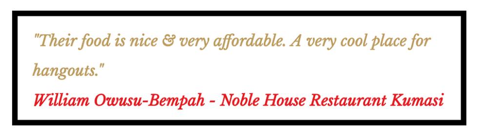 Noble House Restaurant Kumasi