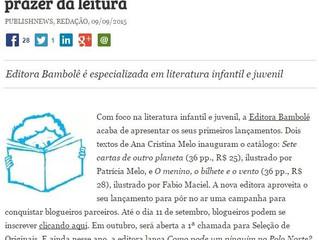 Bambolê é notícia no Portal Publishnews